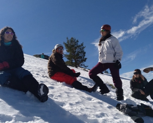 salida invernales grupo de montaña venture